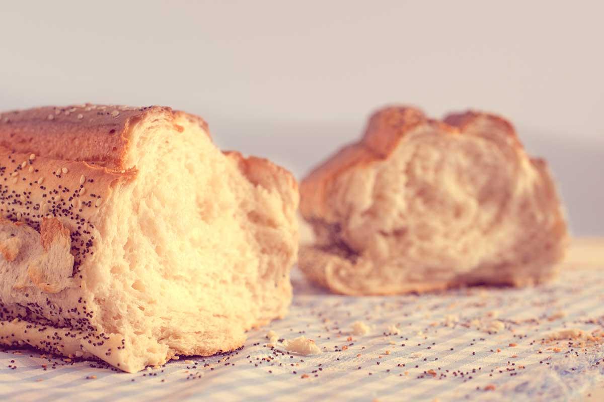 pão low carb de leite em pó