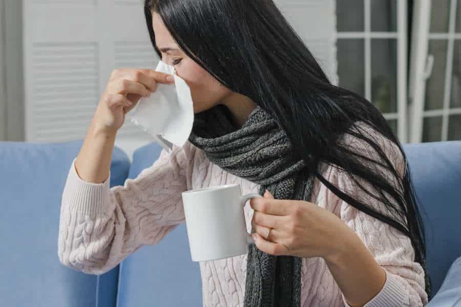 chá de alecrim para gripe