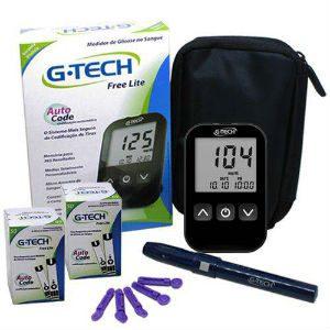 Kit medidor de glicose G-Tech Free Lite 100 tiras