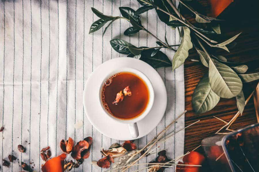 chá das folhas de graviola