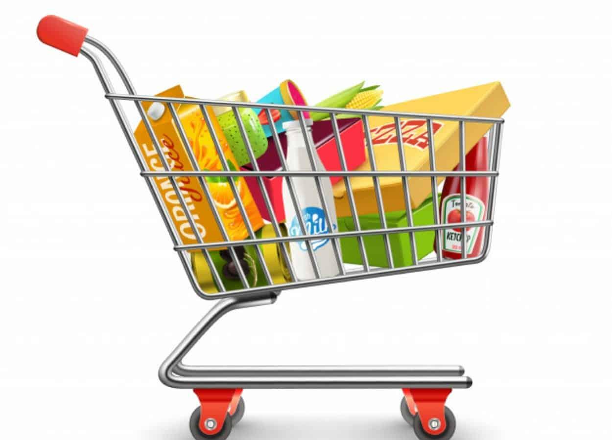Com a alta nos preços dos alimentos está cada vez mais difícil encher o carrinho